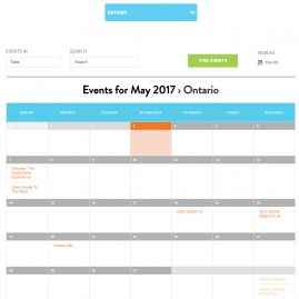 Children's Wish website, Chapters & Events, calendar, Avada theme, Wordpress, Stephen Thomas