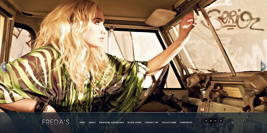 Freda's website high-end retail fashion Toronto for Superscope Media